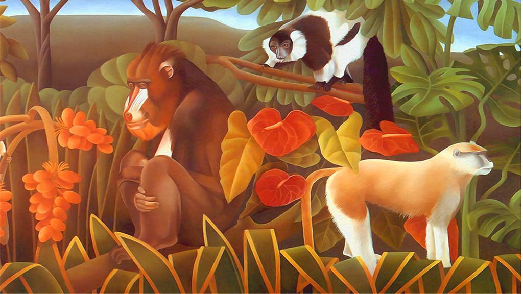 手绘丛林猴子(图片编号:15988930)