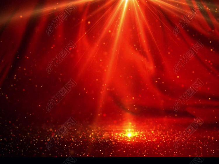 八一建军节日党政晚会大气舞台红色粒子背景