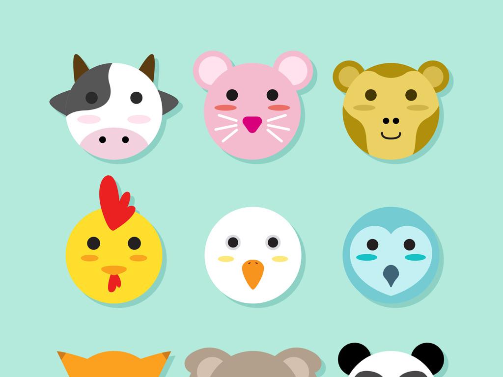 可爱卡通小动物素材