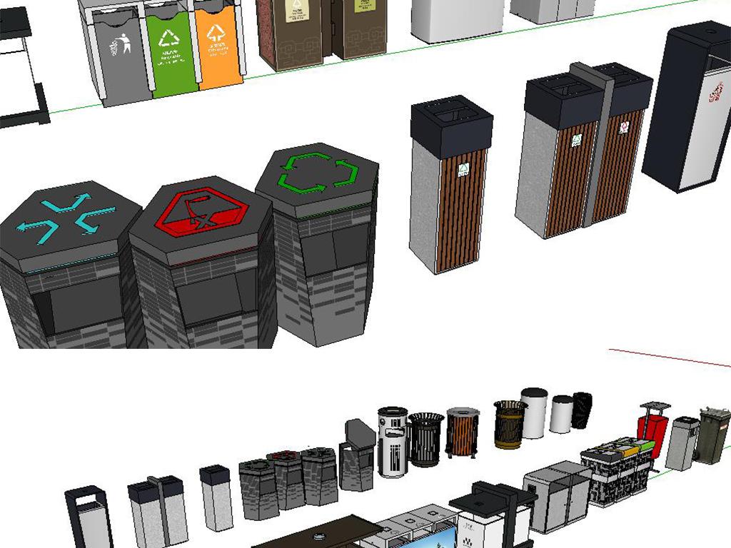 各种垃圾桶su模型(图片编号:15991554)