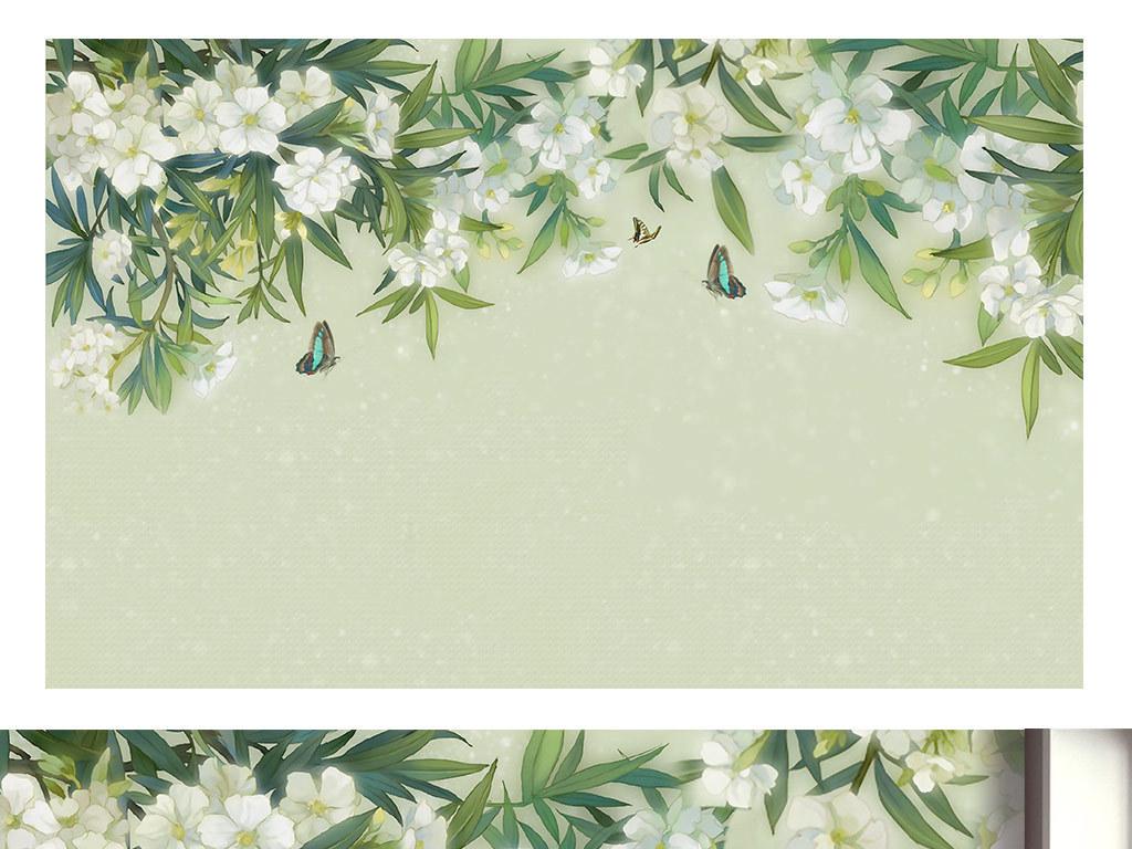 手绘背景清新淡雅花朵背景淡雅背景小白花黑白花黑底白花花白花白花