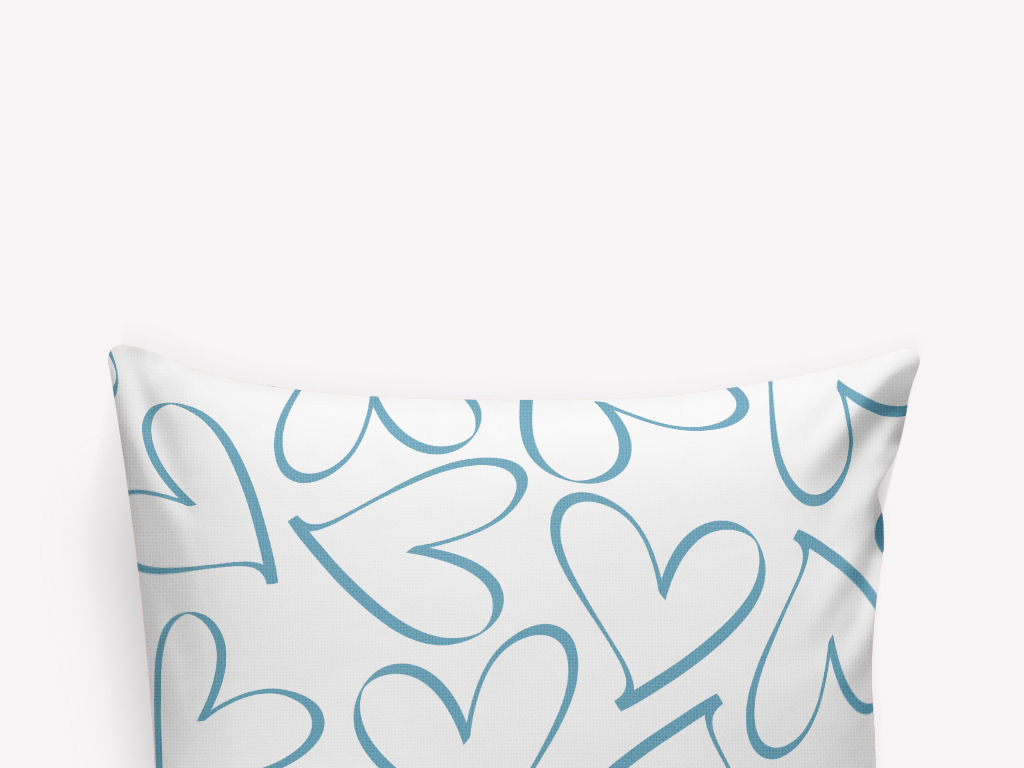 朴素线稿手绘爱心抱枕图案设计(图片编号:15993200)