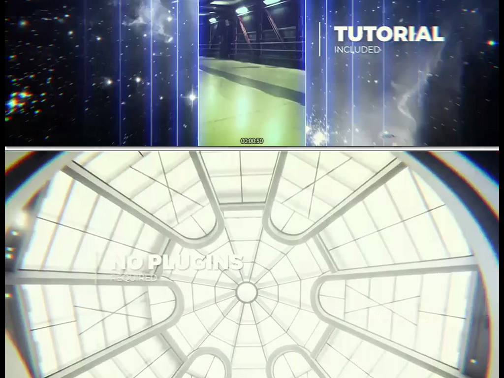 ae模板科技感能量线条光线切割转场图片