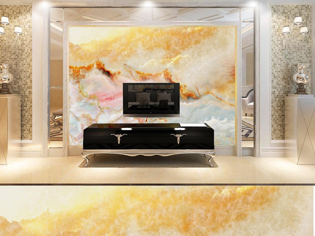 设计作品简介: 卡里冰玉皇朝金大理石纹理材质背景墙