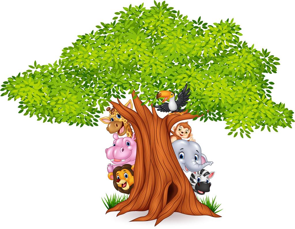 成长童年卡通彩虹幼儿园墙画幼儿园海报幼儿园装饰淘宝天猫卡通动物