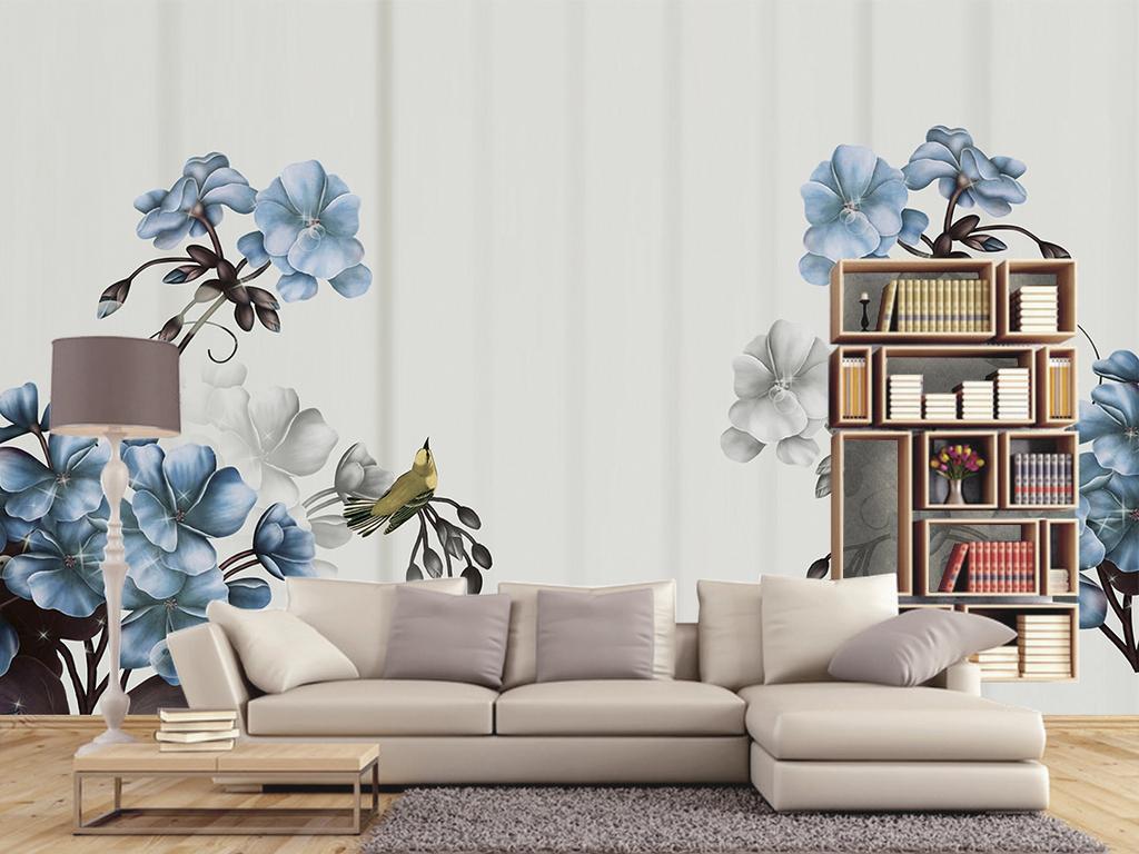 作品模板源文件可以编辑替换,设计作品简介: 欧式复古手绘花卉电视