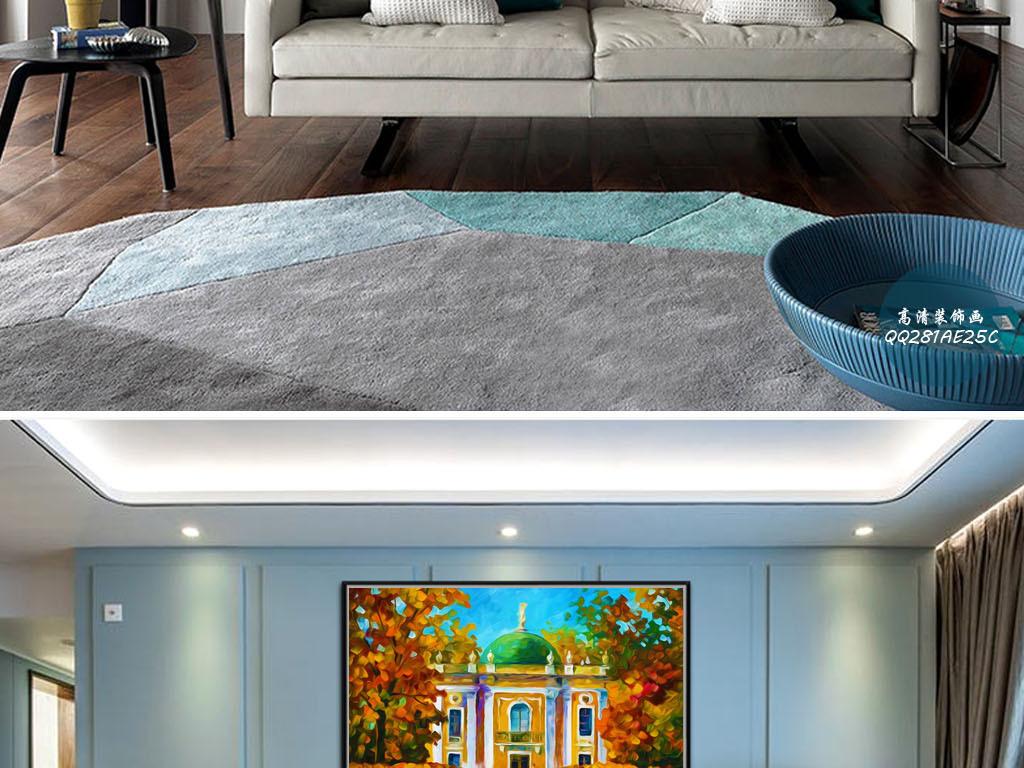 圆顶豪宅官邸地中海风格印象派欧式装饰画