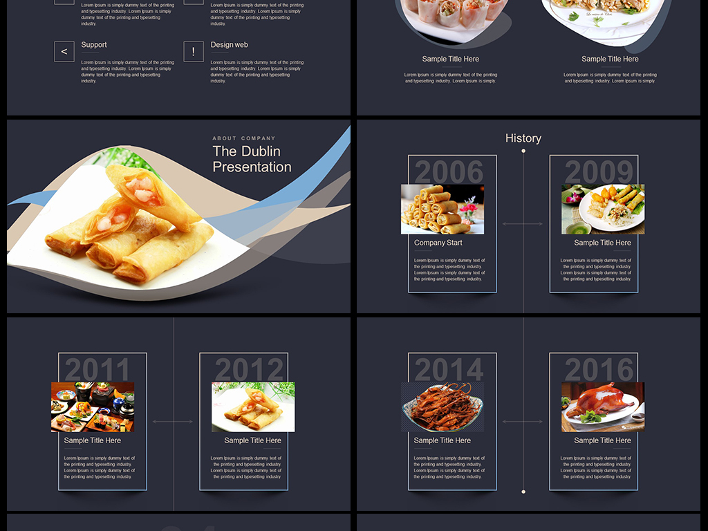 中国传统美食文化饮食餐饮ppt模板素材