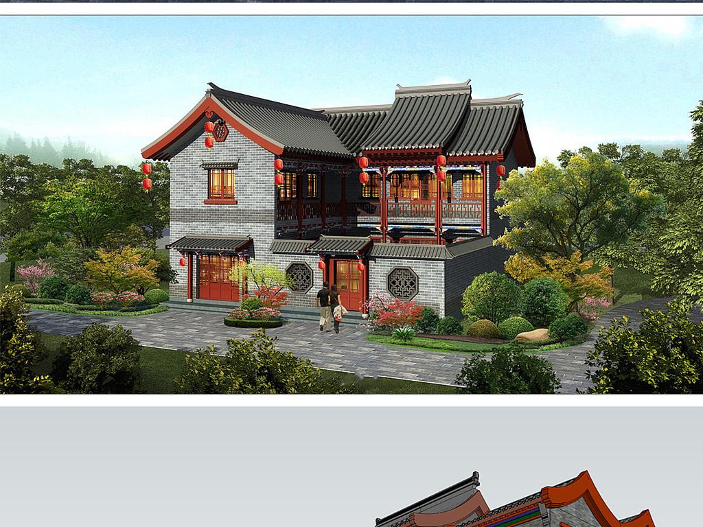 明清su模型室内建筑设计景观园林