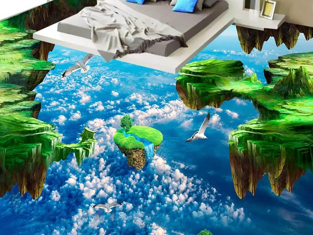 天空3d户外地板地画