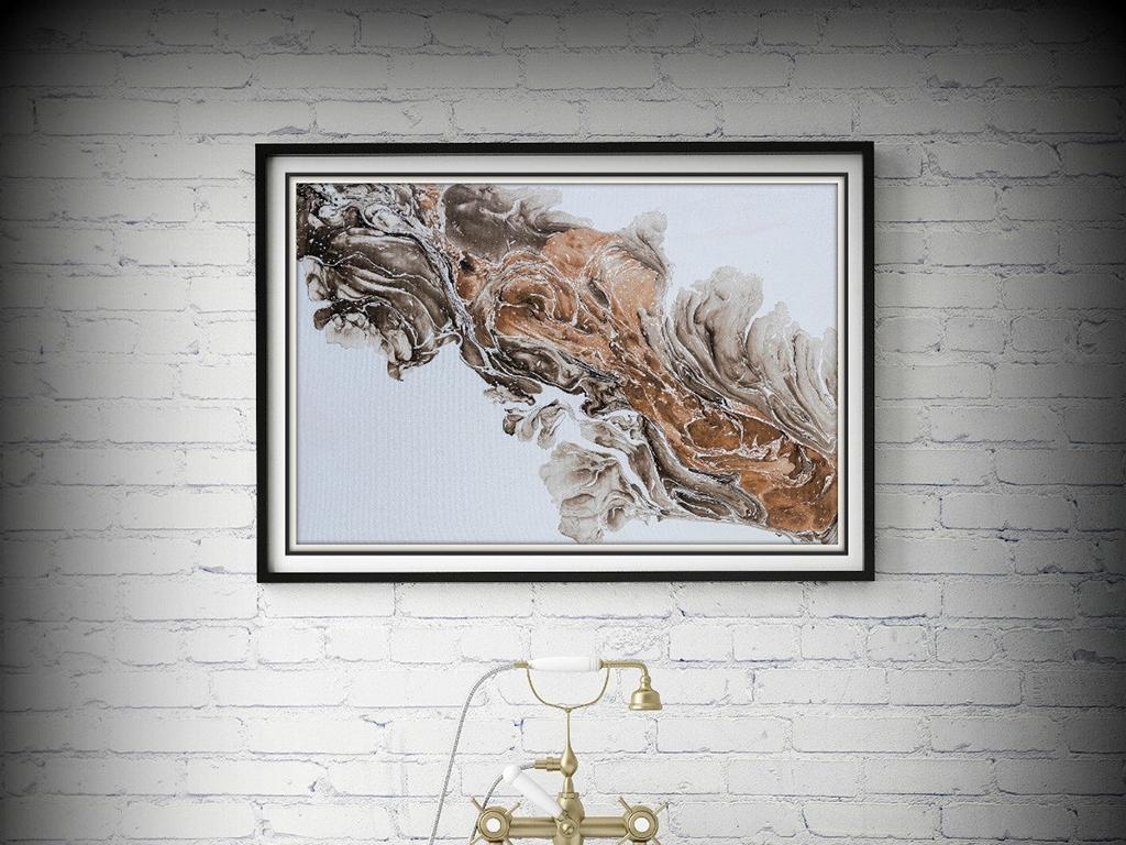 现代简约抽象艺术卧室客厅手绘油画抽象画