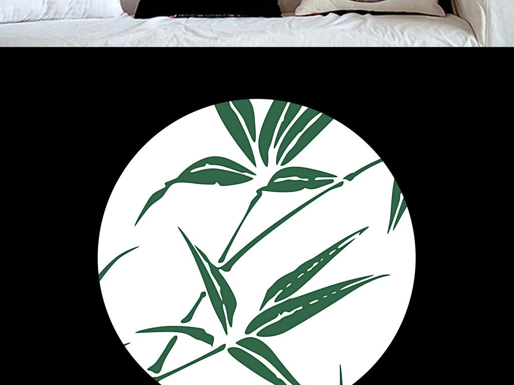 古典简约中国风竹子手绘无框画