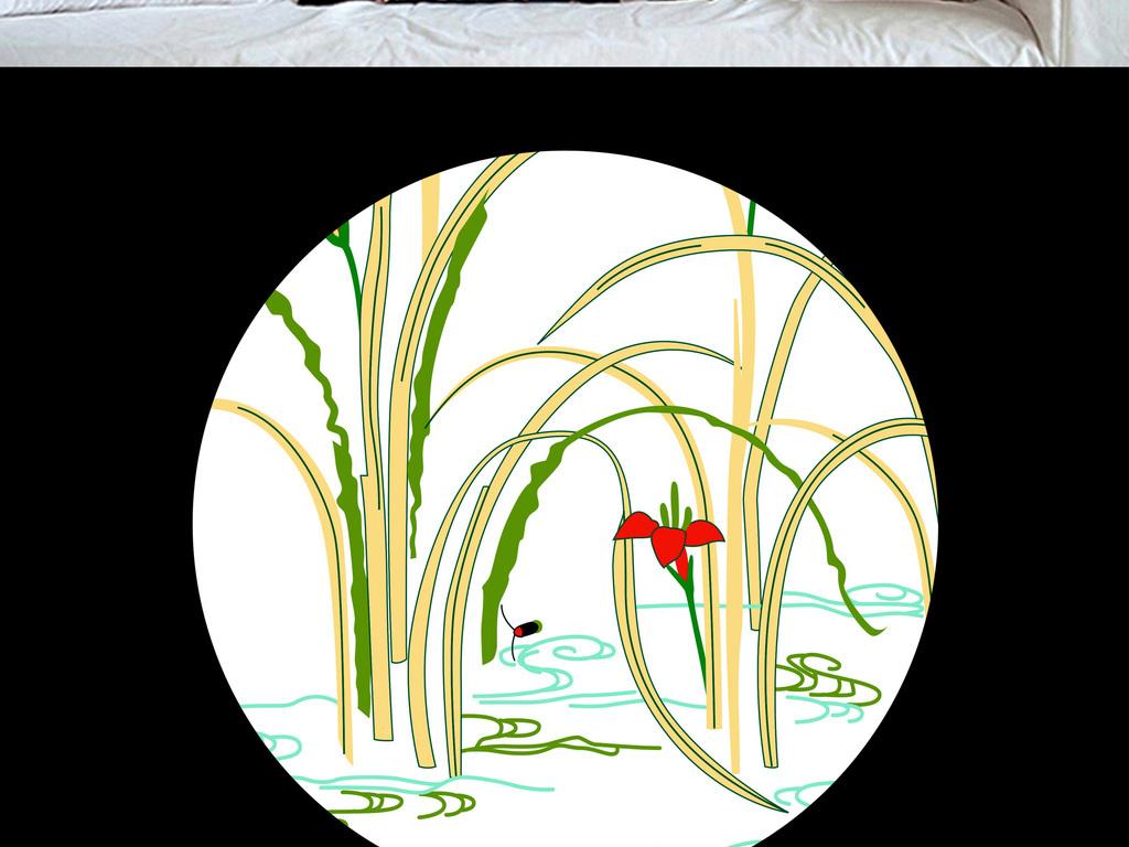 中国风古典手绘兰花简约唯美无框画