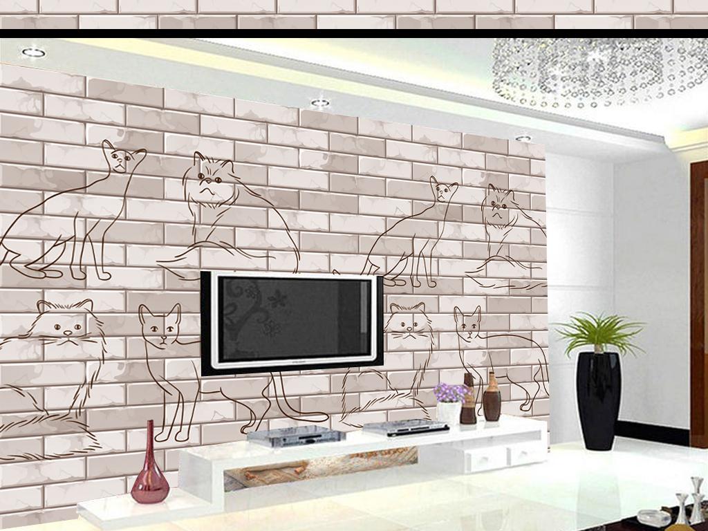 手绘电视背景墙图片玻璃电视背景墙图片客厅电视背景