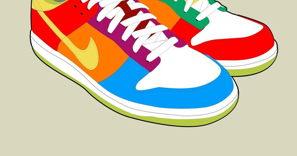 背景鞋子手绘图案