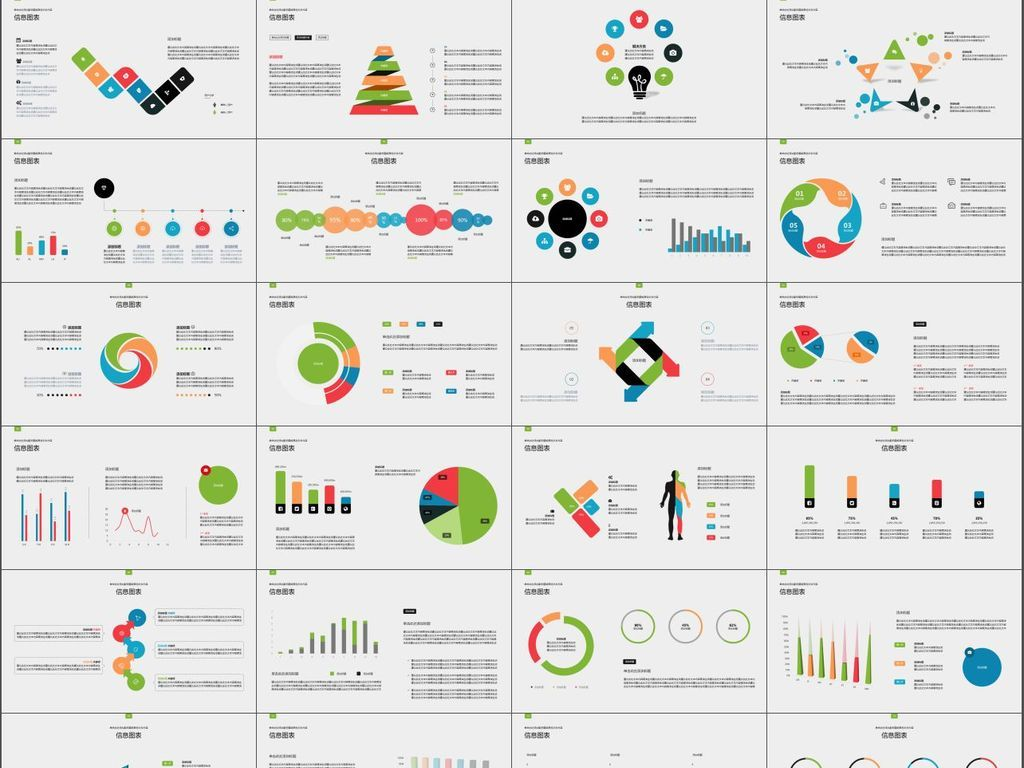 商务流程创意思维数据图表图片总结规划
