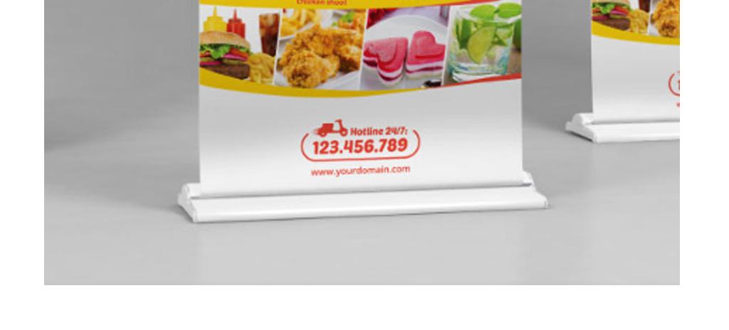 平面|广告设计 海报设计 其他海报设计 > 美食餐饮行业x展架易拉宝