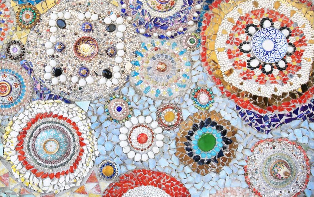 我图网提供精品流行欧式复古波西米亚玉石马赛克拼贴壁画背景墙素材