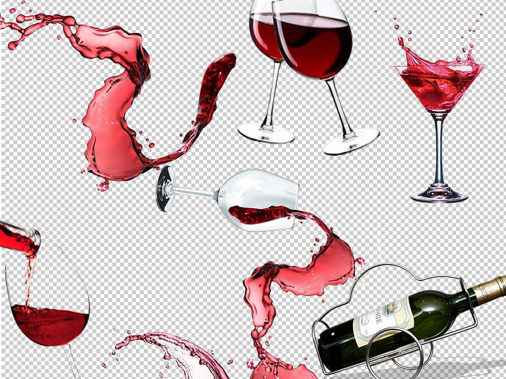 高端葡萄红酒海报png素材