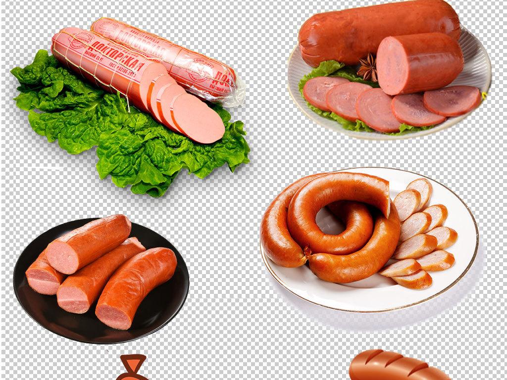 卡通烤肠香肠海报png素材