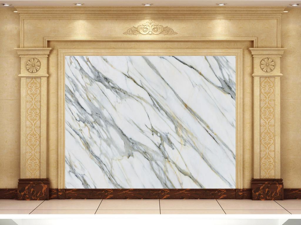 浮雕玉石背景墙大理石纹瓷砖拼花欧式装修建材装修效