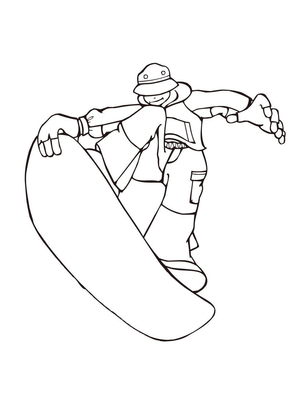 卡通运动人物简笔画滑冰手绘人物
