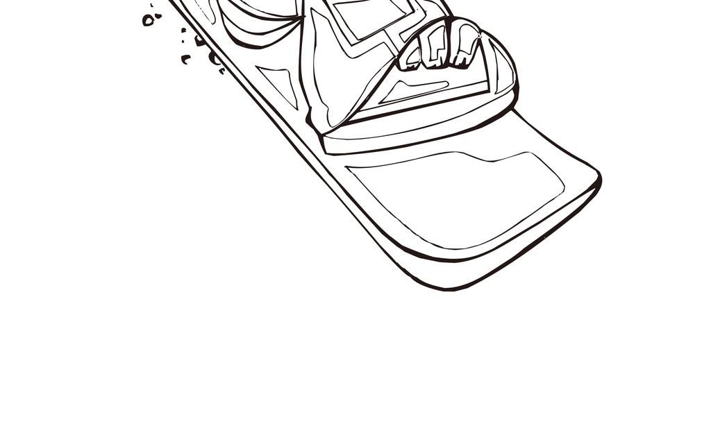 卡通运动人物简笔画前卫街头滑板