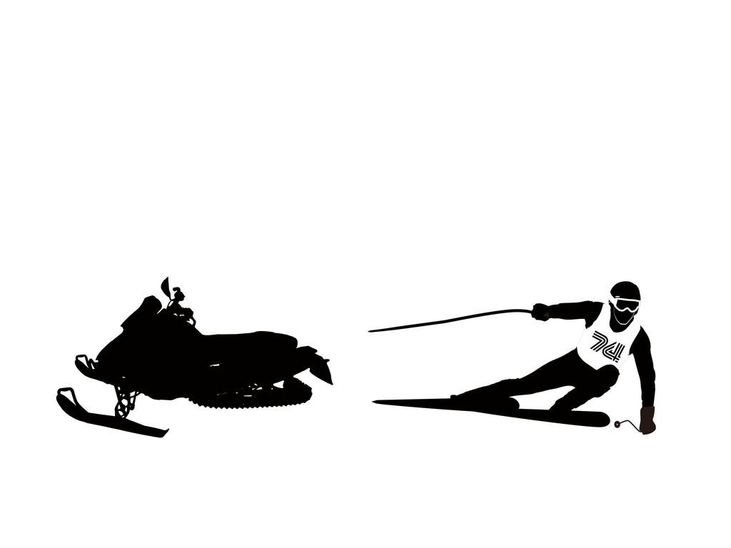 运动人物简笔画人物剪影滑冰