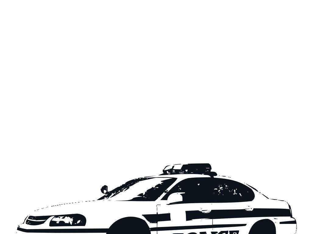 交通工具汽车简笔画卡车轿车生活元素警车