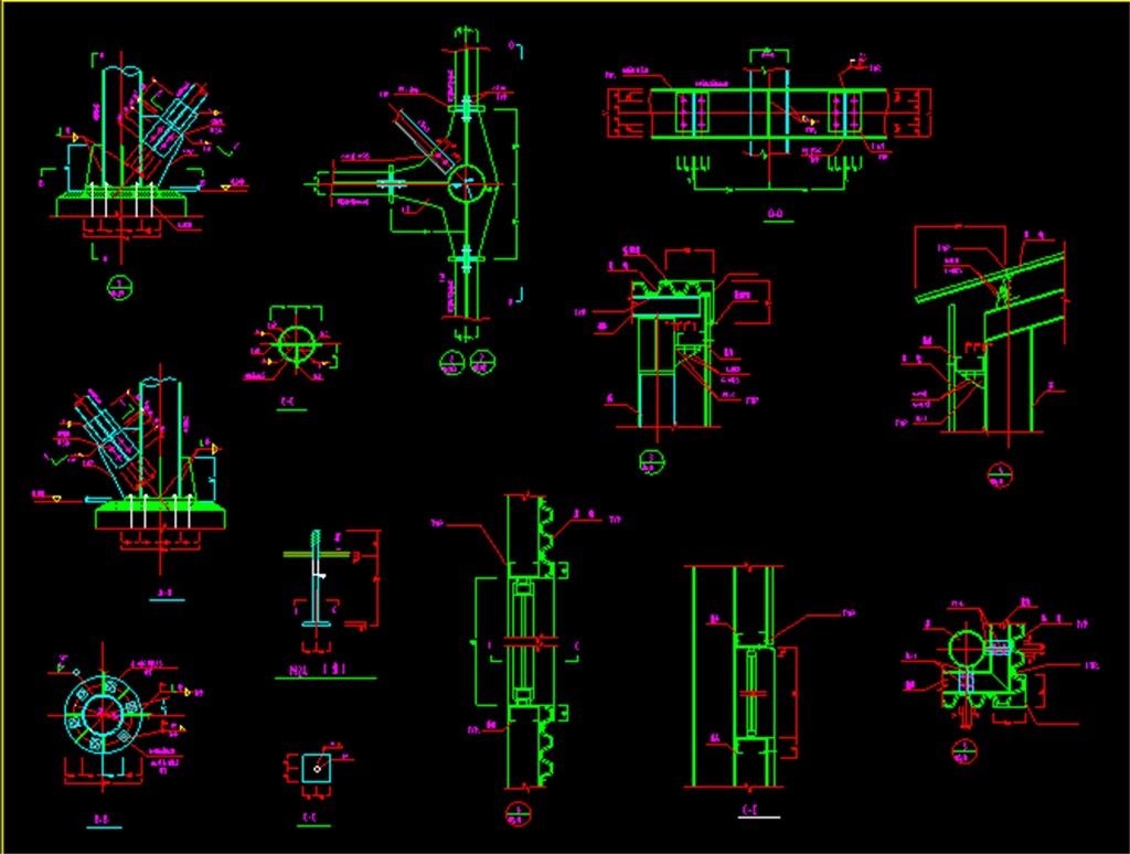 框架钢结构平面图钢结构框架图纸钢结构图建筑cad