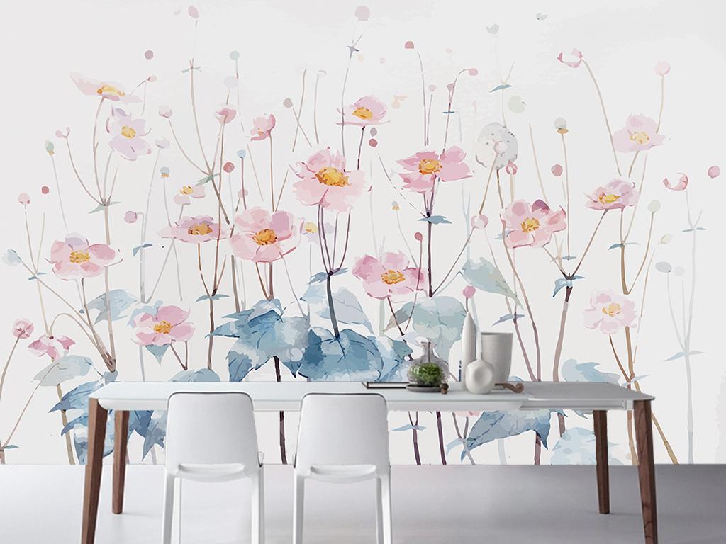 背景墙|装饰画 电视背景墙 手绘电视背景墙 > 手绘清新田园油画花卉