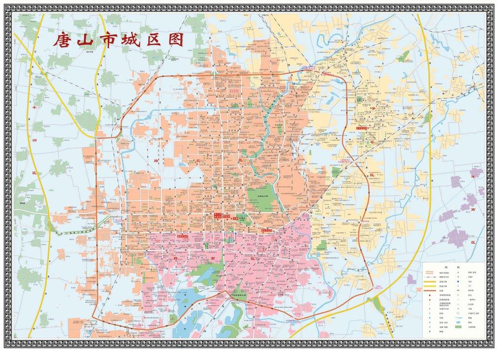 唐山市城区地图