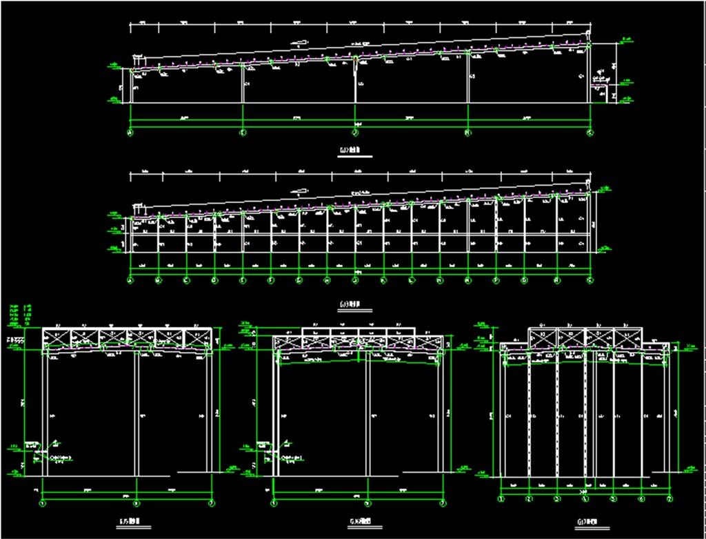 图钢结构设计公司设计图钢结构图纸cad桥梁钢护栏cad