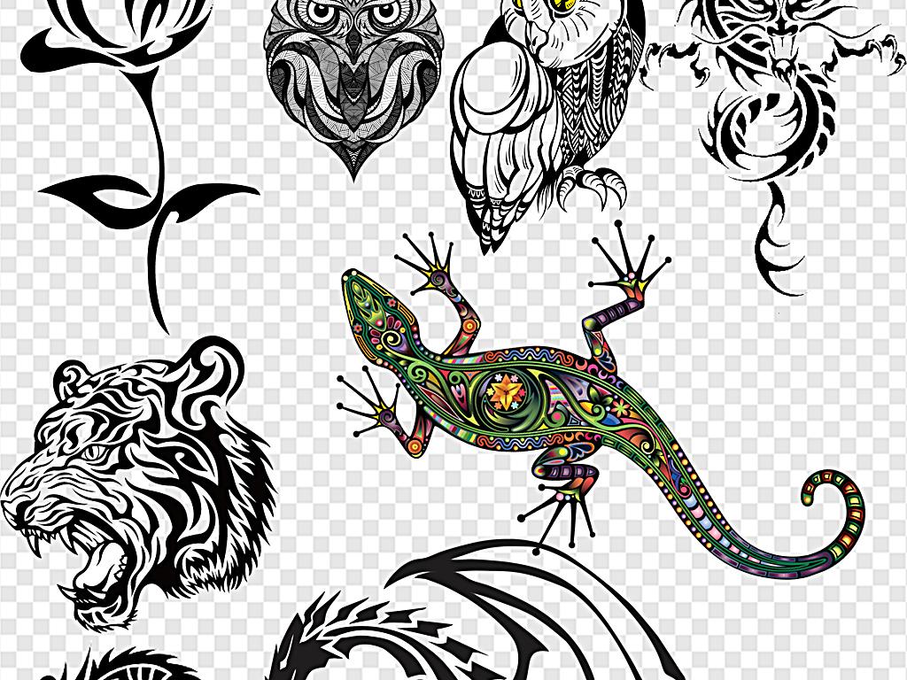 纹身纹身图案纹身图腾彩色纹身
