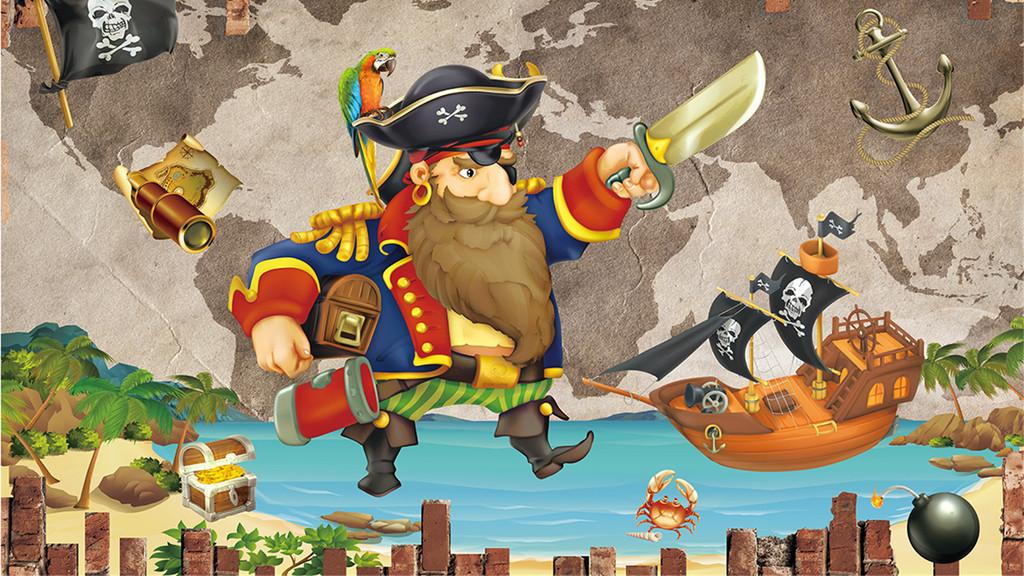 动物蓝天海洋蓝色海洋复古背景海盗主题主题背景背景