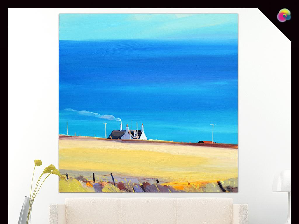 背景墙|装饰画 油画 风景油画 > 现代简约手绘北欧抽象油画无框装饰画图片
