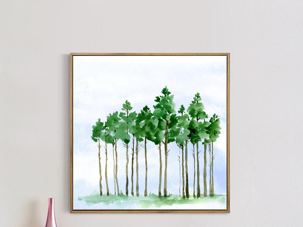 画风格山水树许愿树卡通树手绘树香蕉树抽象树成长树