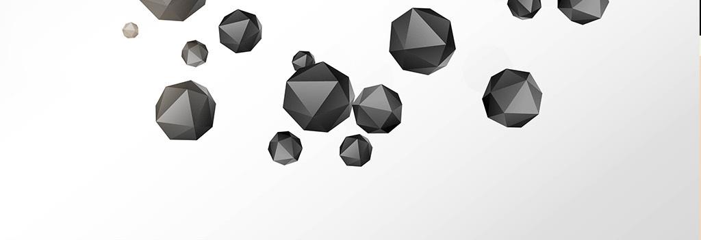 现代简约黑白立体几何墙纸