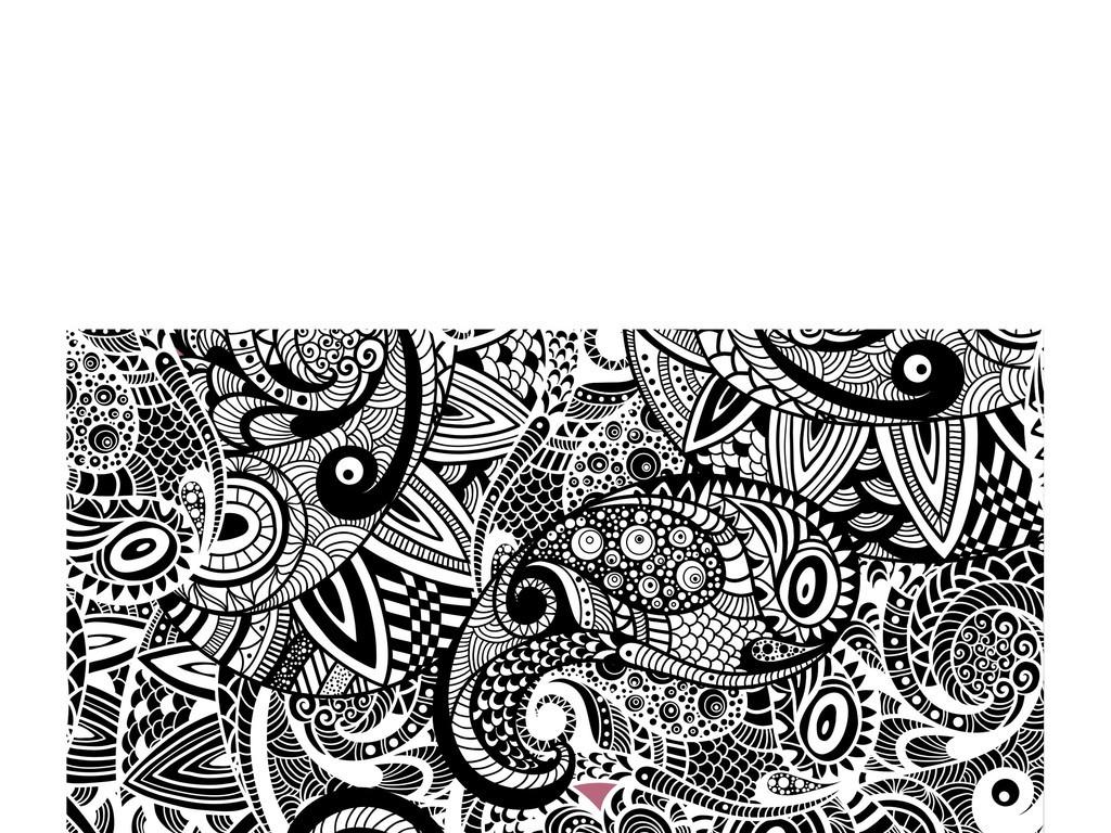 欧式花纹抱枕图案花纹底纹