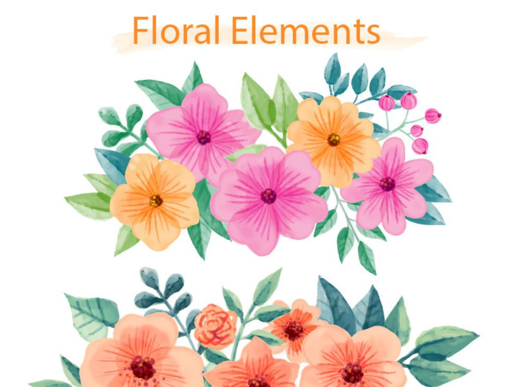 花朵手绘素描文艺
