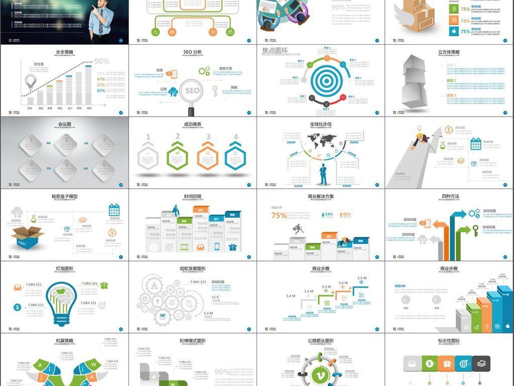 团队介绍创意产品介绍宣传工作总结汇报图片