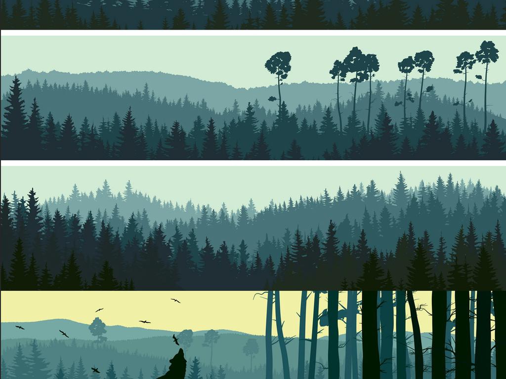 北欧树木自然图片