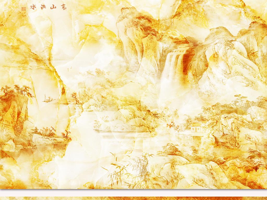 壁纸高山流水山水中国风高清大理石纹高清石纹背景