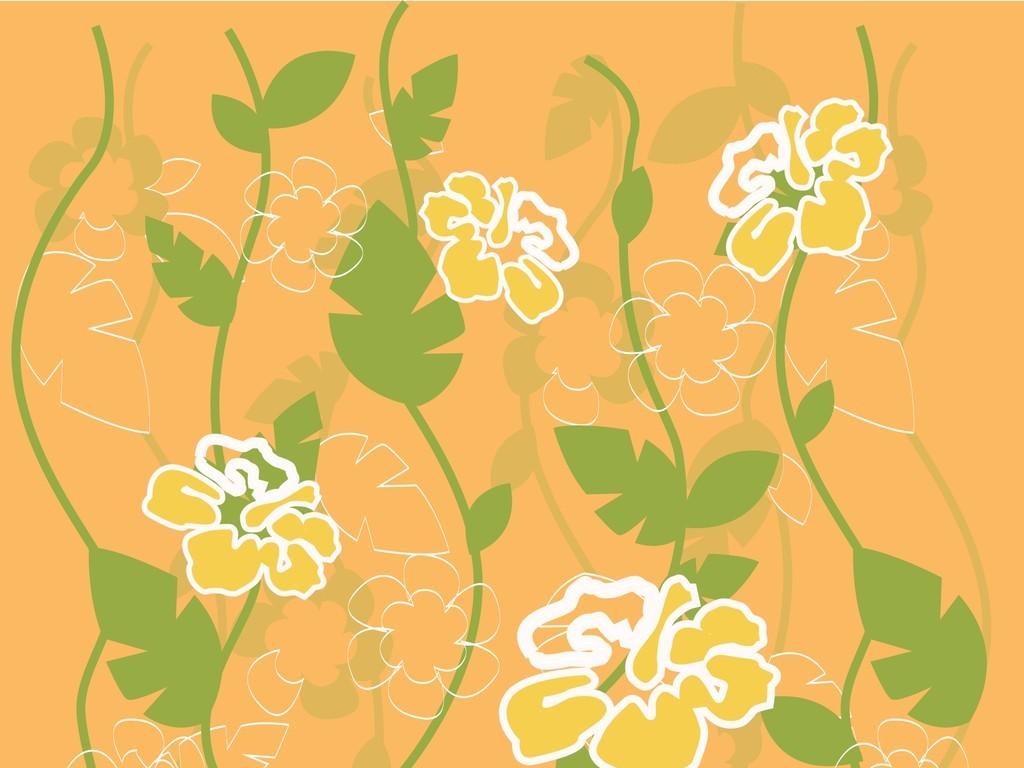 手绘花卉产品图案服装面料印花花卉植物设计植物花卉