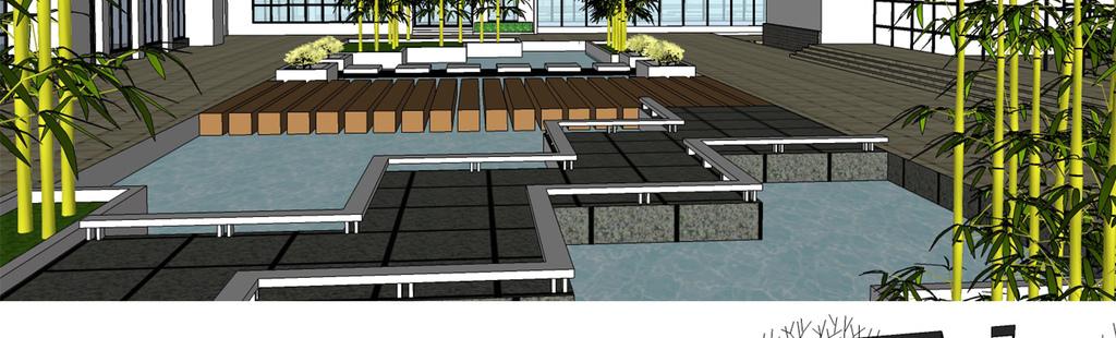 精细新中式风格庭院景观设计su模型(图片编号:)_园林