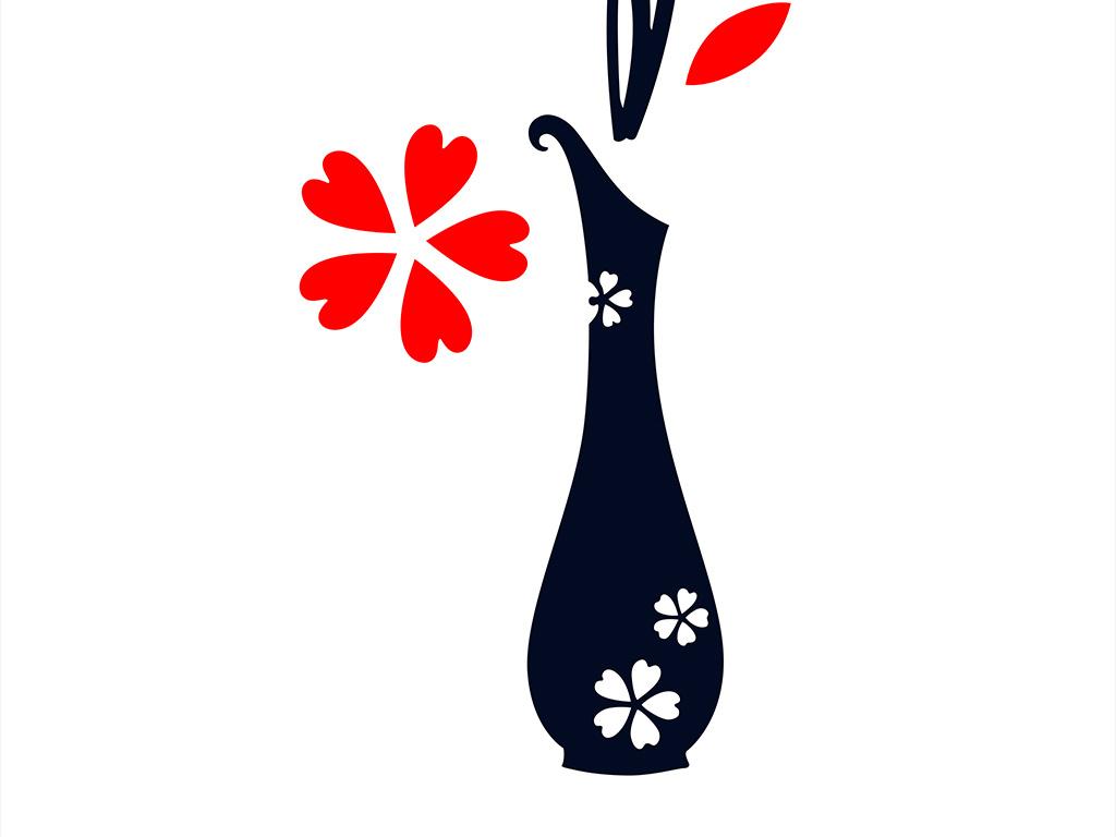 花纹手绘背景手绘花朵花朵背景花瓶装饰画简约手绘花朵装饰画花朵手绘