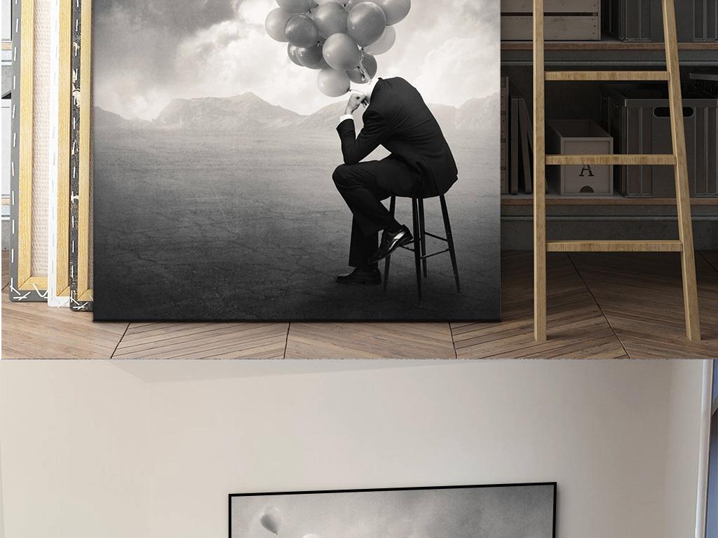 有框画无框画极简餐厅挂画卧室画摄影创意卧室装饰画咖啡图片
