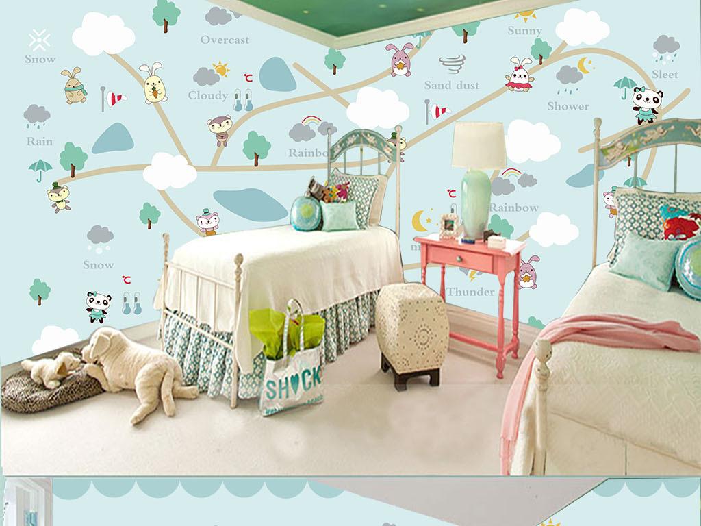 动画手绘儿童电视背景墙图片玻璃电视背景墙图片客厅电视背景墙3d电视