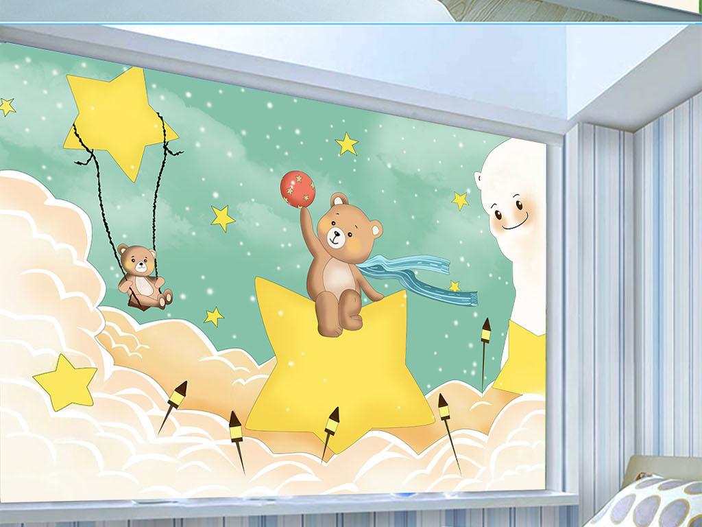 儿童房背景墙 > 手绘卡通