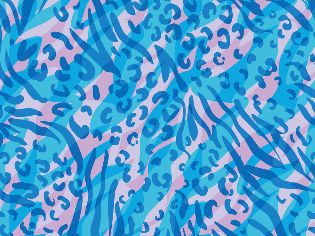 蓝色豹纹性感豹纹图案